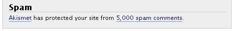 5000 spams