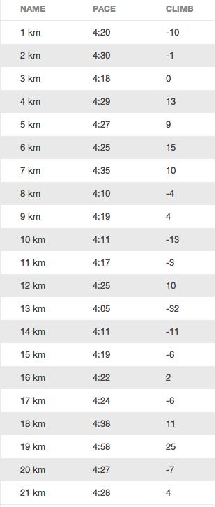 20km 2013 (splits)